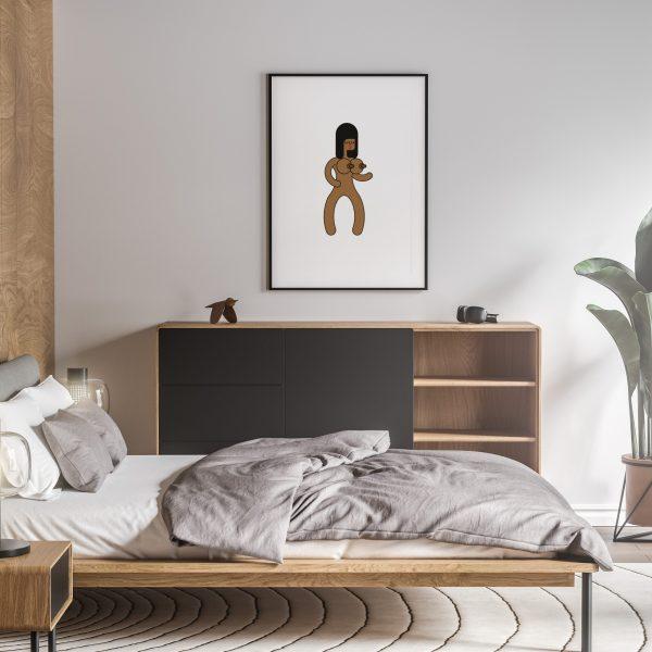 chocolate milkshake nude erotic wall art prints posters vertical 1