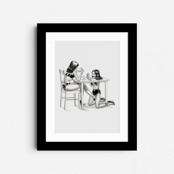 dinner-guest-a4-portrait-kink-bdsm-wall-art-born-in-black
