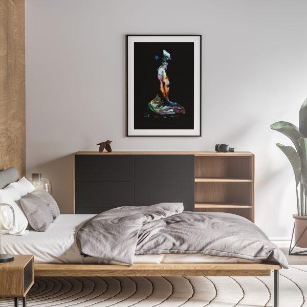 elise nude erotic wall art prints posters vertical 1