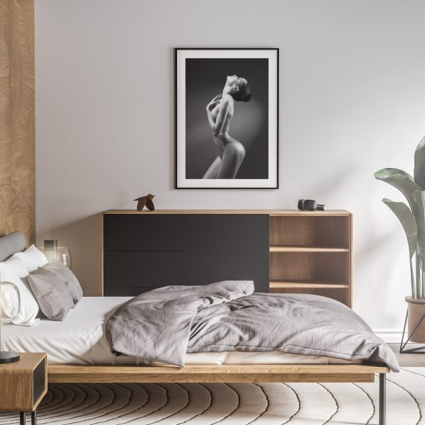 glow nude erotic wall art prints posters vertical 1