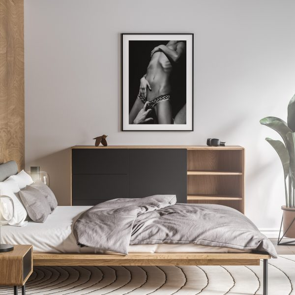 just a tease nude erotic wall art prints posters vertical 1