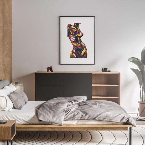 manon nude erotic wall art prints posters vertical 1