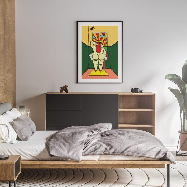 reina nude erotic wall art prints posters vertical 1