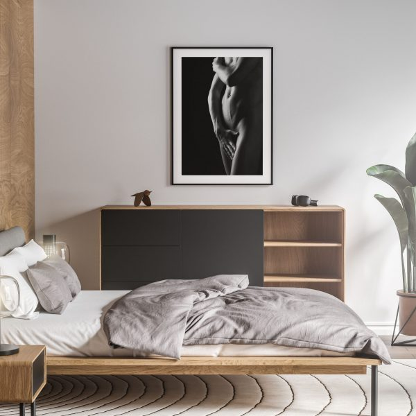 a touch of modesty nude erotic wall art prints posters vertical 1