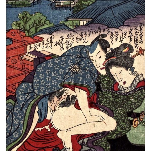 bliss-on-a-roof-shunga-japanese-erotica-prints-a4