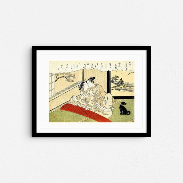 feminine-serenade-shunga-japanese-erotica-prints-frame