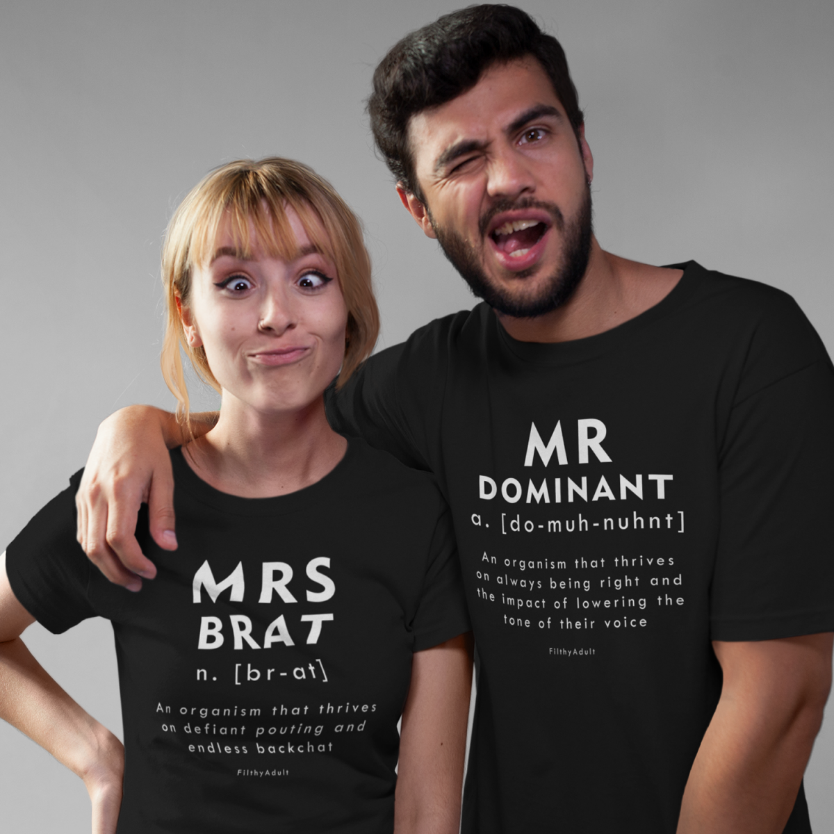 filthy adult bdsm t shirt personalised couple product