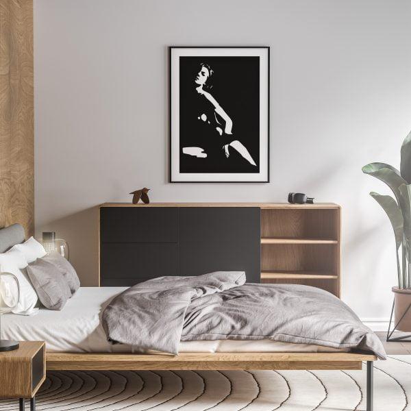 in bloom nude erotic wall art prints posters vertical 1