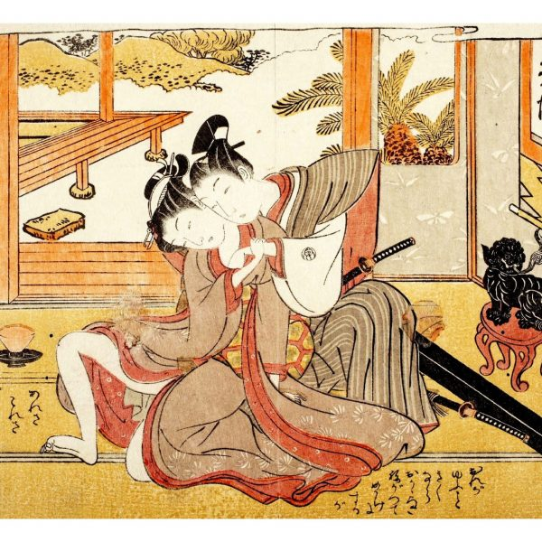 lovers-with-a-sword-shunga-japanese-erotica-prints-a4