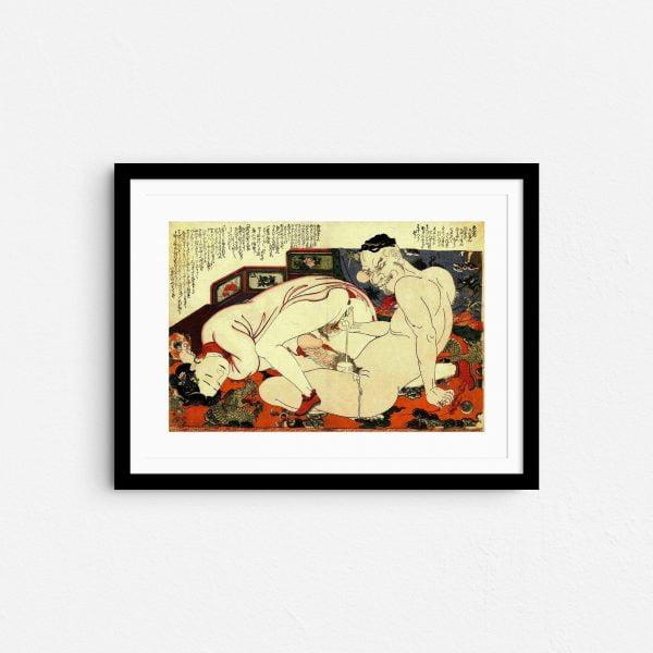 reaching-for-bliss-shunga-japanese-erotica-art-prints-frame