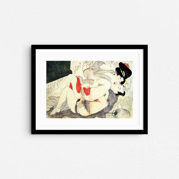 reaching-for-the-moon-shunga-japanese-erotica-prints-frame