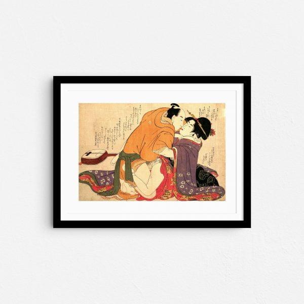 serenade-embrace-shunga-japanese-erotica-art-prints-frame