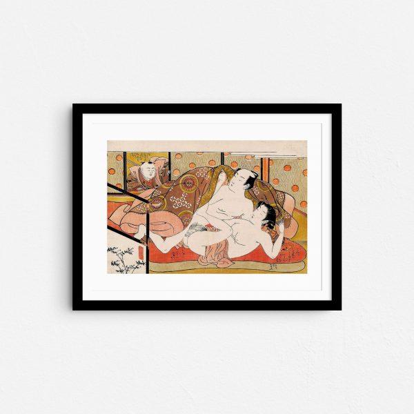 the-watcher-shunga-japanese-erotica-art-prints-frame