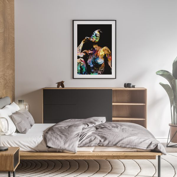 thea nude erotic wall art prints posters vertical 1