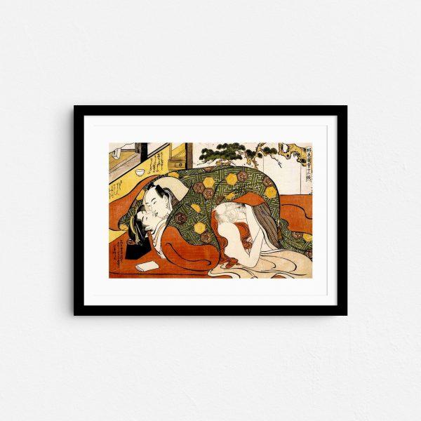 under-summer-blankets-shunga-japanese-erotica-art-prints-frame
